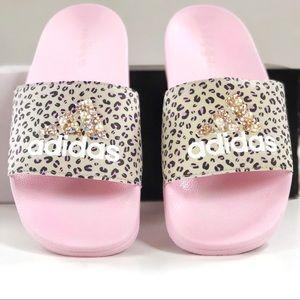 Adidas Custom Swarovski Crystal Adilette Slides